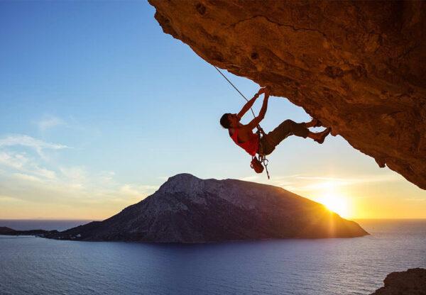 outdoor rock climber